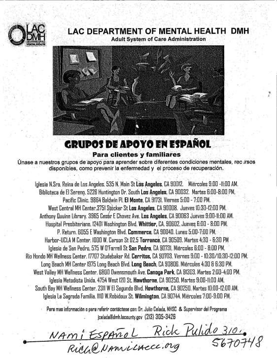 Grupos de Apoyo en Espanol